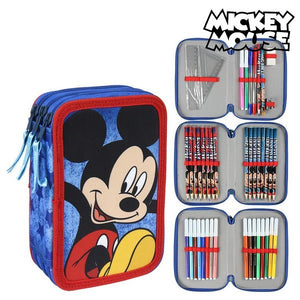 Triple Pencil Case Mickey Mouse 78728