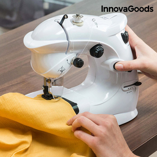 InnovaGoods Compact Sewing Machine 6 V 1000 mA White-WANTICY STORE