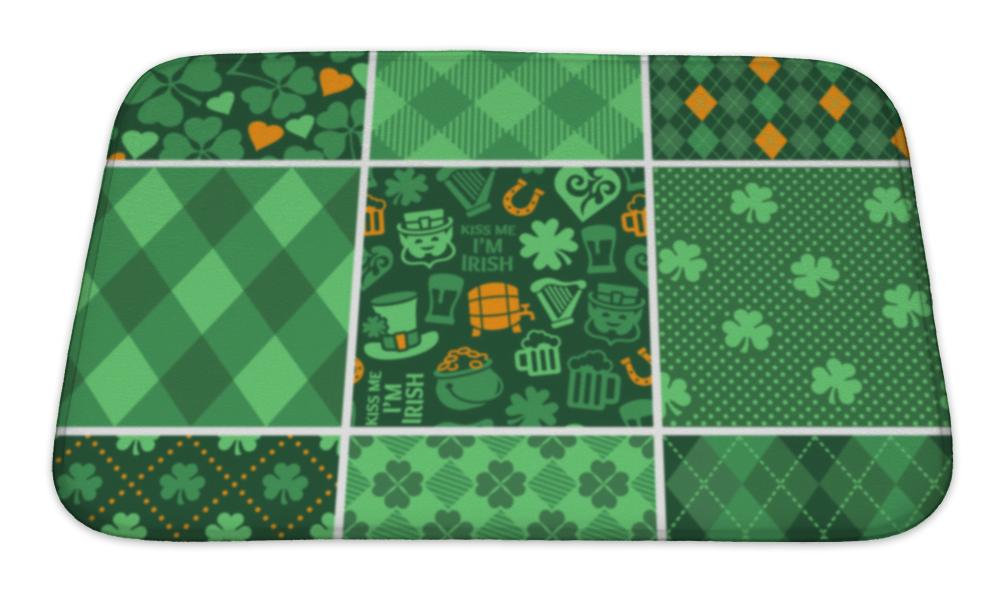 Bath Mat, Set Of St Patricks Day Patterns