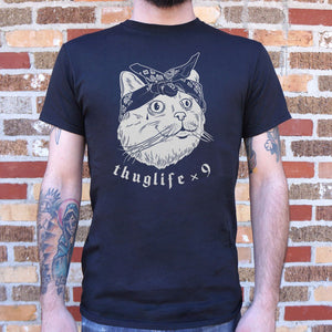Thug Life Cat Times Nine T-Shirt (Mens)