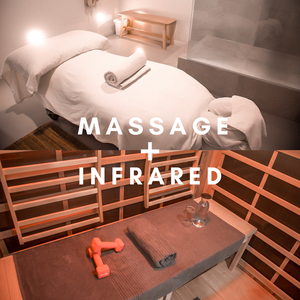 Massage + Infrared Sauna 2 Person