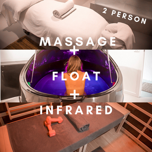 Massage + Float + Infrared Sauna (2 person)