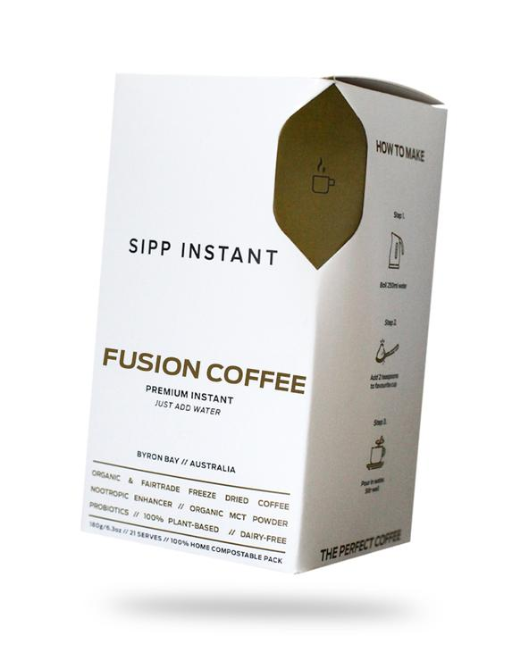 Sipp Instant Coffee - Fusion Coffee - 250 grams