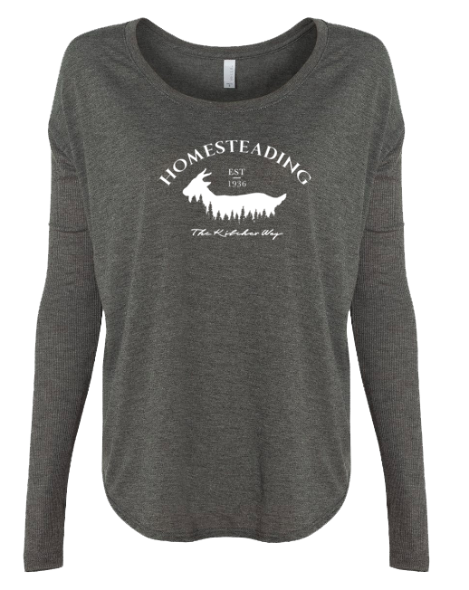 Homesteading - Goat - LADIES Ribbed Long Sleeve