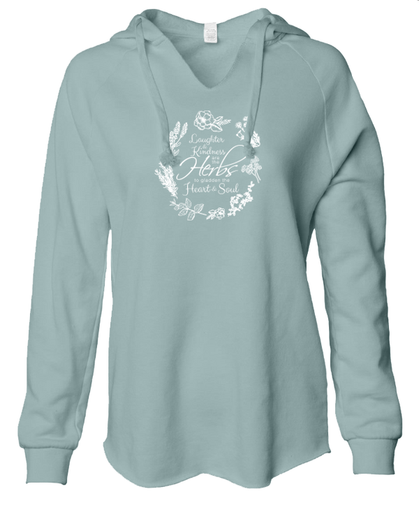 Herbs to Gladden the Heart - LADIES Lightweight Hooded Sweatshirt