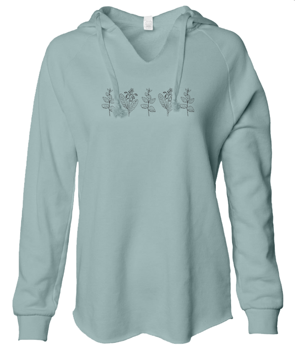 Mint & Borage - LADIES Lightweight Hooded Sweatshirt