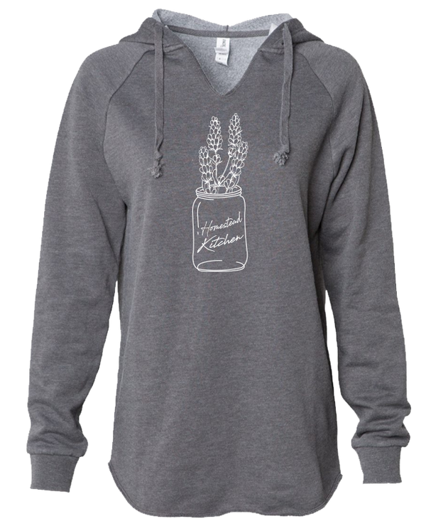 Homestead Kitchen Lavender - LADIES Lightweight Hooded Sweatshirt