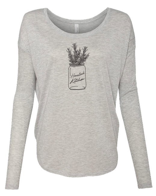 Homestead Kitchen Rosemary - LADIES Ribbed Long Sleeve