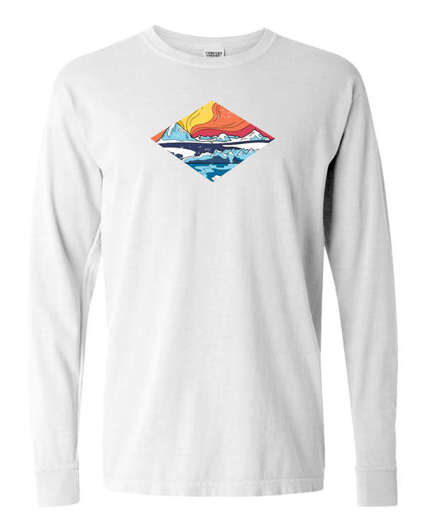 Icy Mountains Adult Long Sleeve