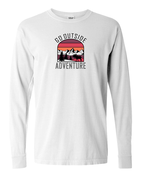 Go Outside Sunset Adult Long Sleeve