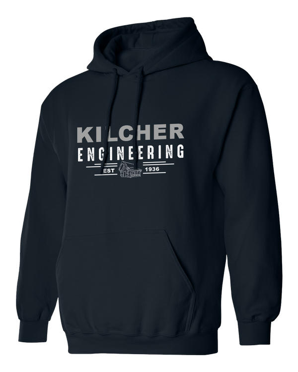 Kilcher Engineering Hooded Pull-Over Sweatshirt (Navy)