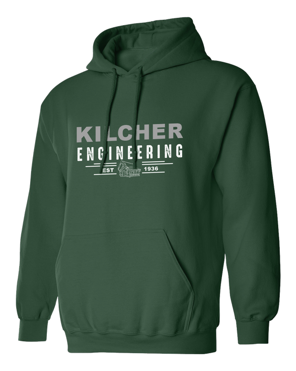 Kilcher Engineering Hooded Pull-Over Sweatshirt (Moss)