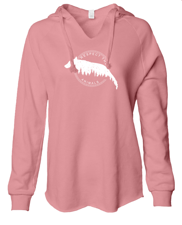 Respect the Animals - LADIES Lightweight Hooded Sweatshirt