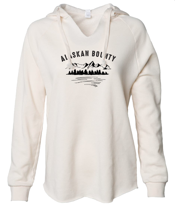 Alaskan Bounty Mountains - LADIES Lightweight Hooded Sweatshirt