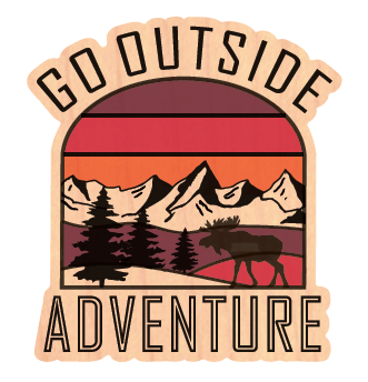 Go Outside Sunset - Wood Stickers