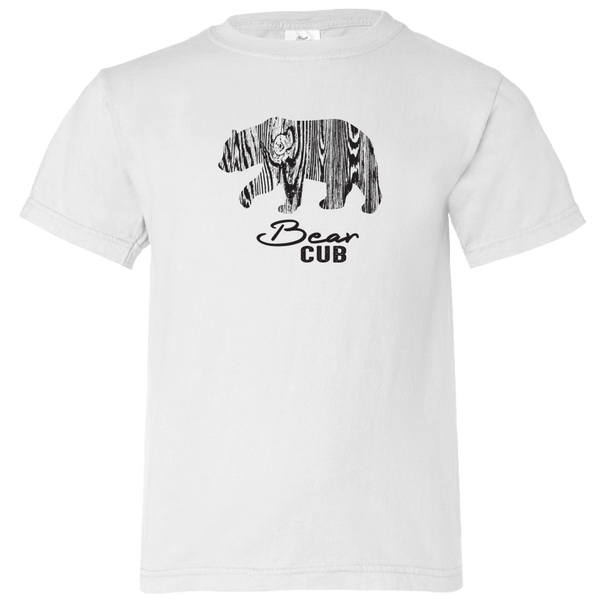 Wood Grain Bear Cub - Youth T-Shirt