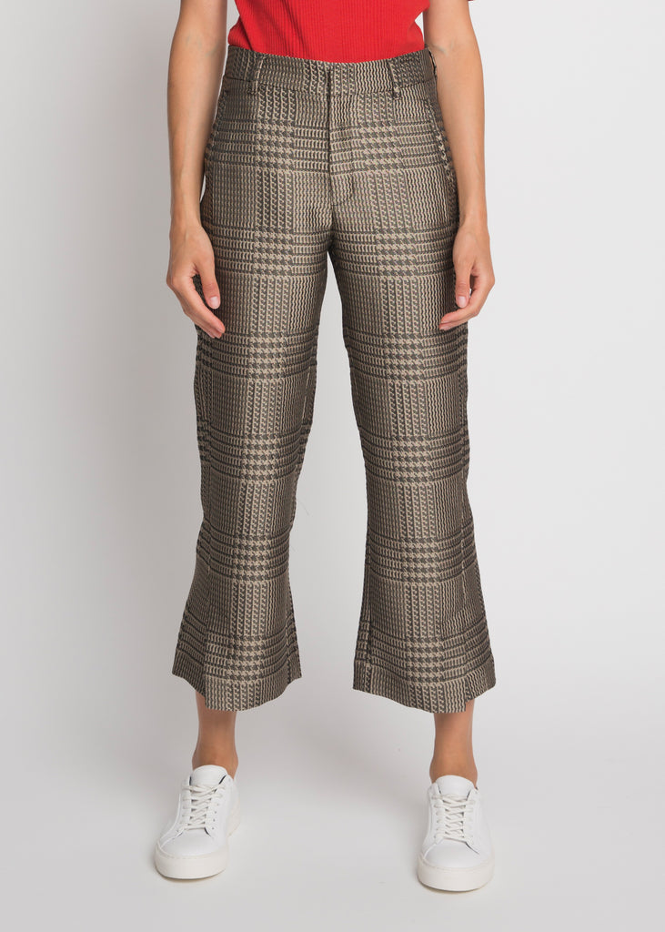High Trouser Beige Pattern