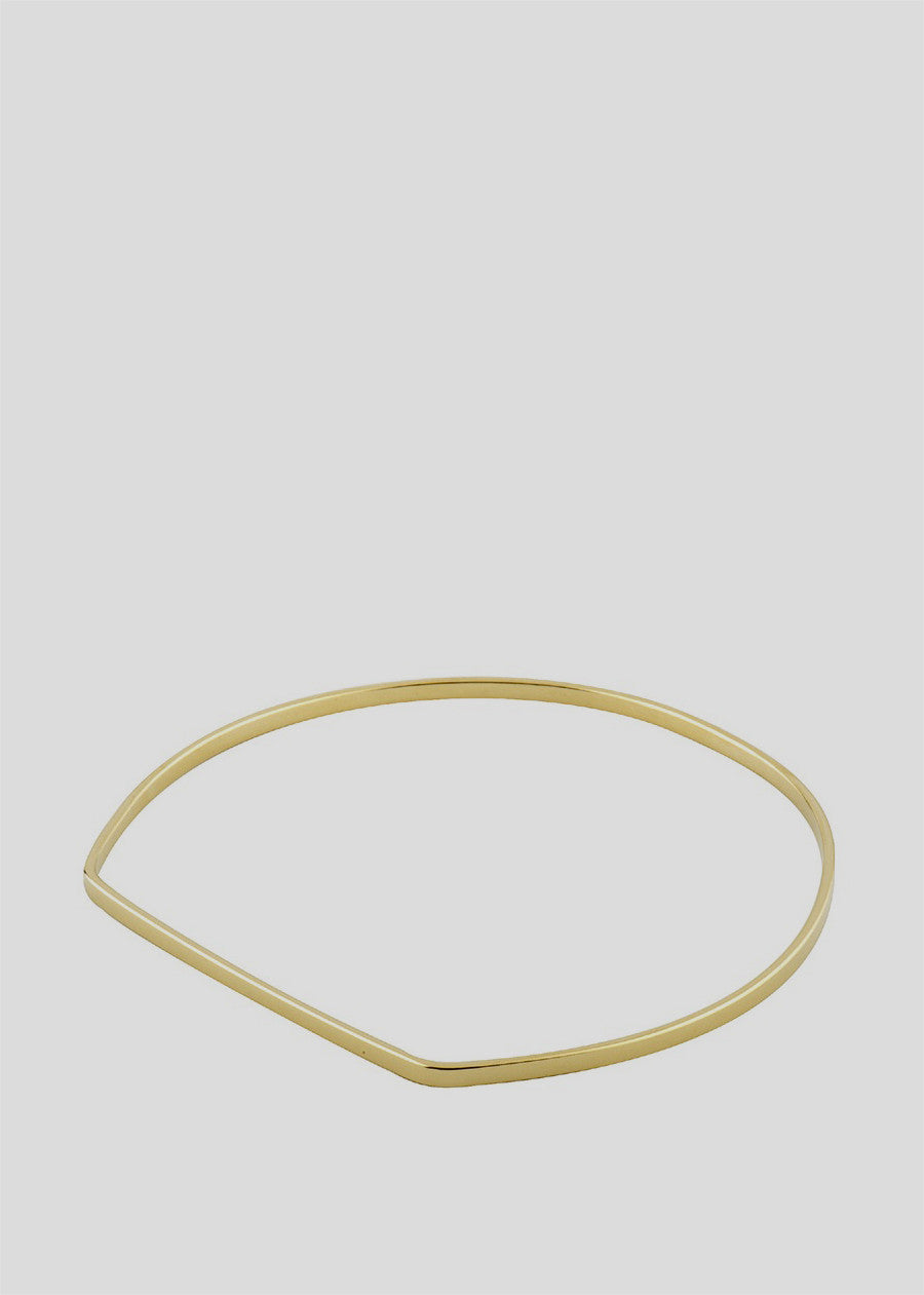 Gourmette Bangle Bracelet Gold