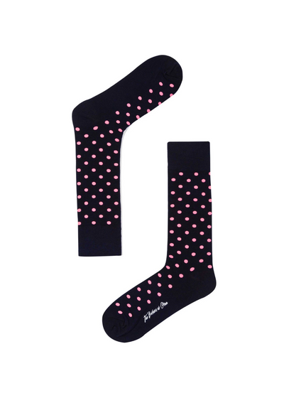 Pink Dot Socks Midnight Blue