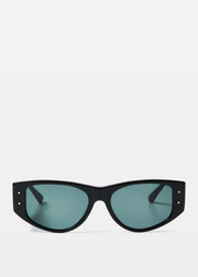 Eno Sunglasses Black Polished Green