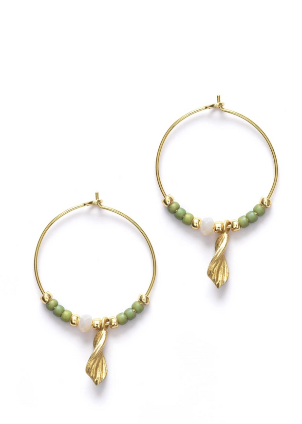 Wave Chaser Hoops Sage Green