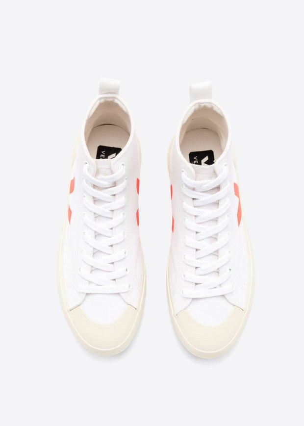 Nova High Top Shoes White Orange Fluo Butter Sole