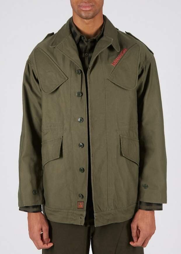 Upcycled Shinobi M53 Jacket Olive Red