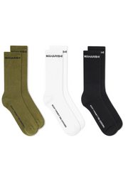 Grounded Jacquard Sock Mixed 3 Pack