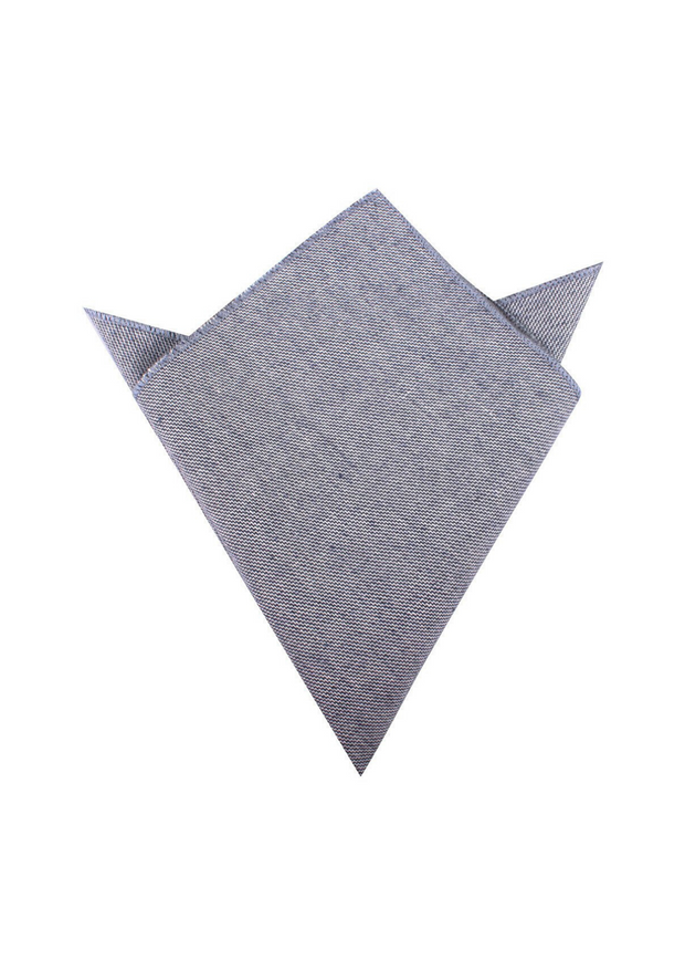 Zig Zag Linen Pocket Square Navy