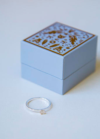 Botanical Mini Ring Silver