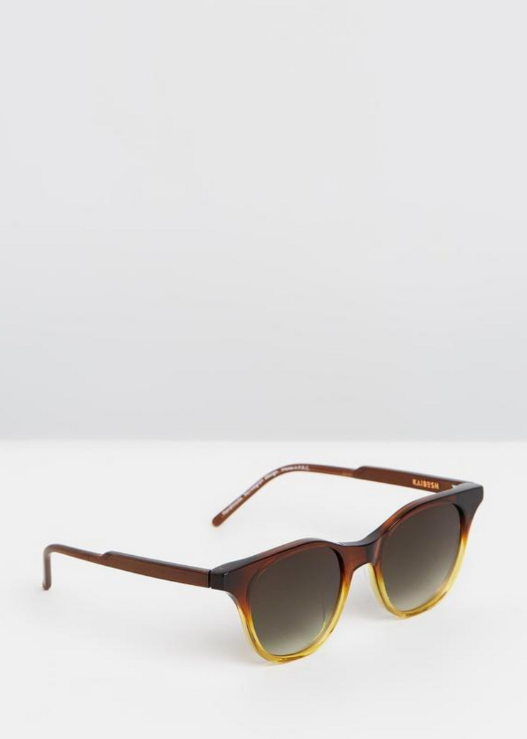 Negroni At Noon Sunglasses Amber Gradient Shiny