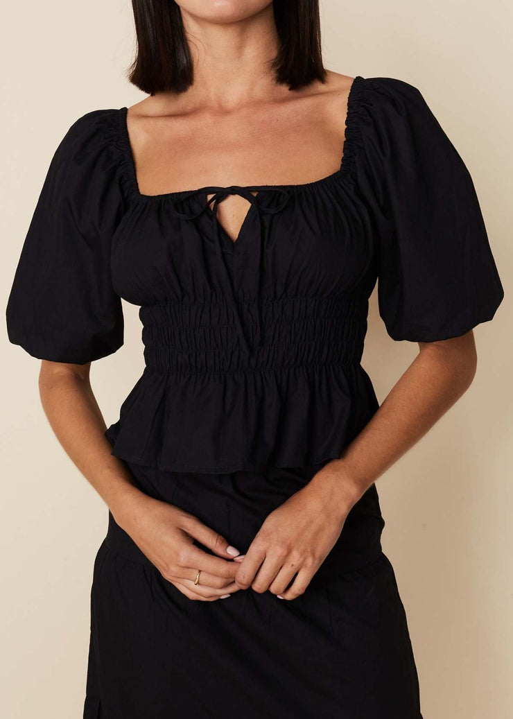 Venetia Top Black