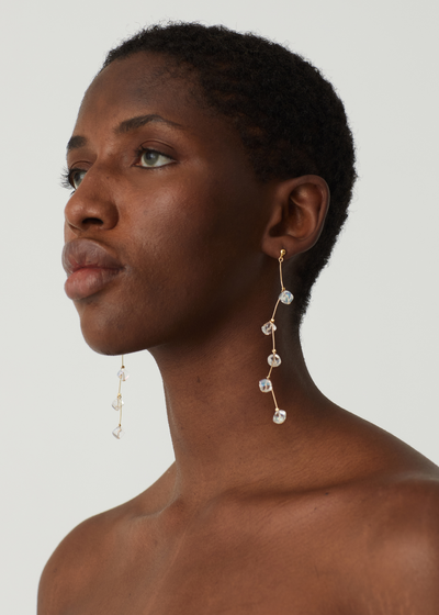 Dominica Drop Earrings Off White