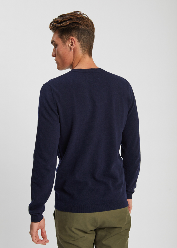 Sigfred Light Wool Knit Dark Navy
