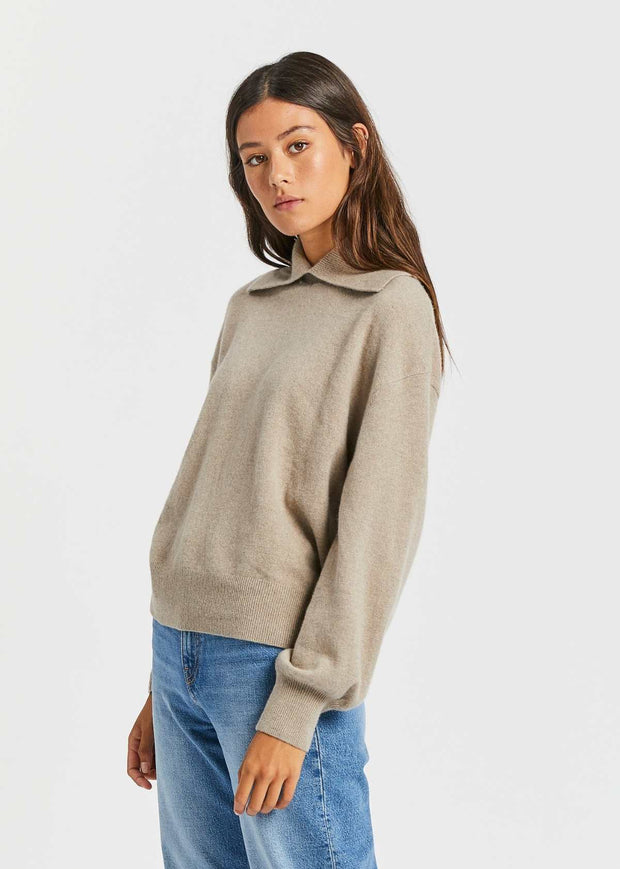 Nori Crew Neck Warm Grey Mel