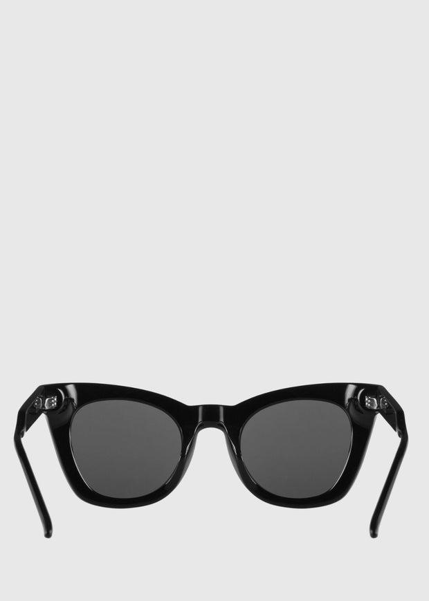 6 Above Sunglasses Black Shiny
