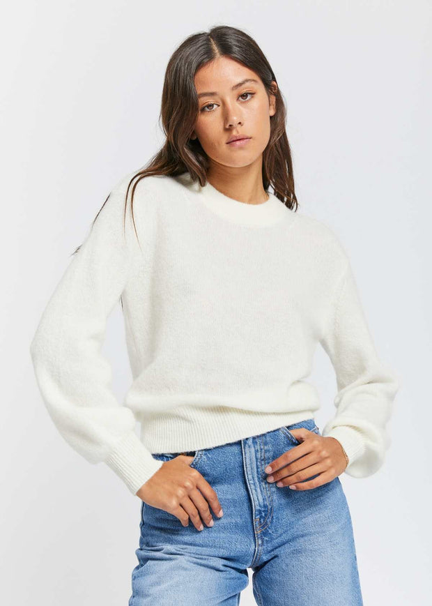Jaci Crew Neck Whisper White