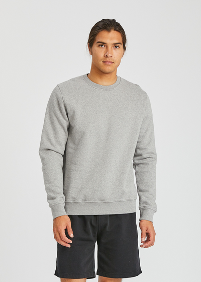 Classic Organic Crew Heather Grey