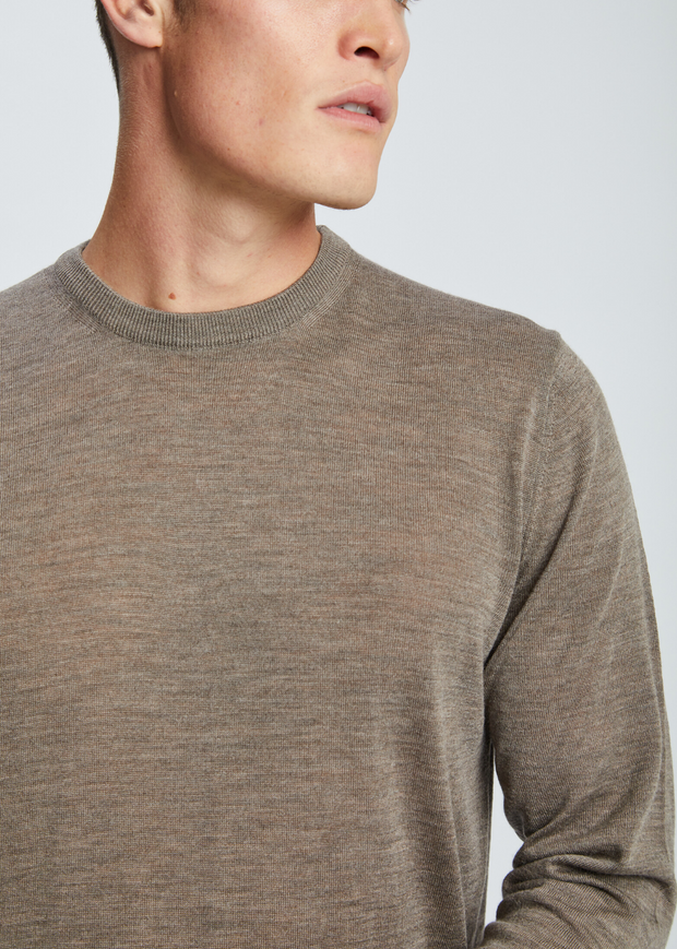 Sigfred Light Merino Knit Taupe