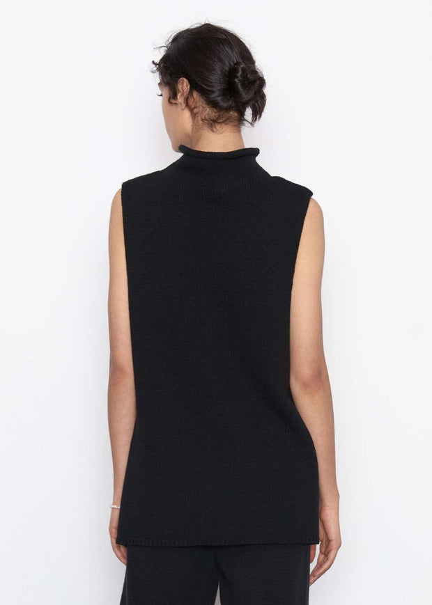 Toyo Sleeveless Knit Black