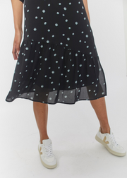 Jessie Wrap Dress Blue Daisy AOP