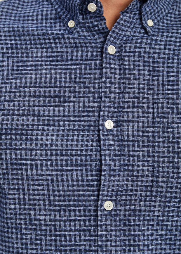 Levon Shirt Blue Check