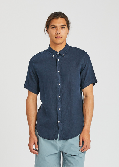 New Derek Shirt Navy Blue