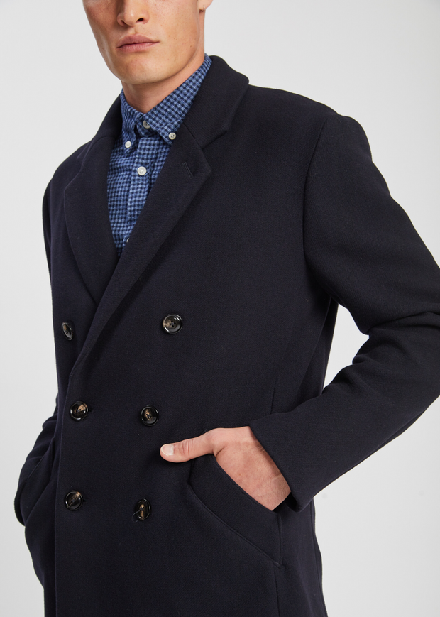 Rasmus Coat Navy Blue