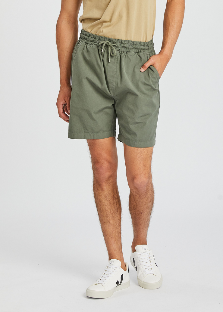 Organic Twill Shorts Dusty Olive