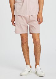 Organic Twill Shorts Faded Pink