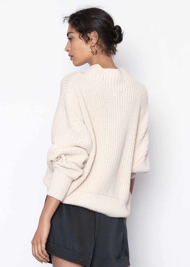Jorn Fisherman Knit Jumper Ecru