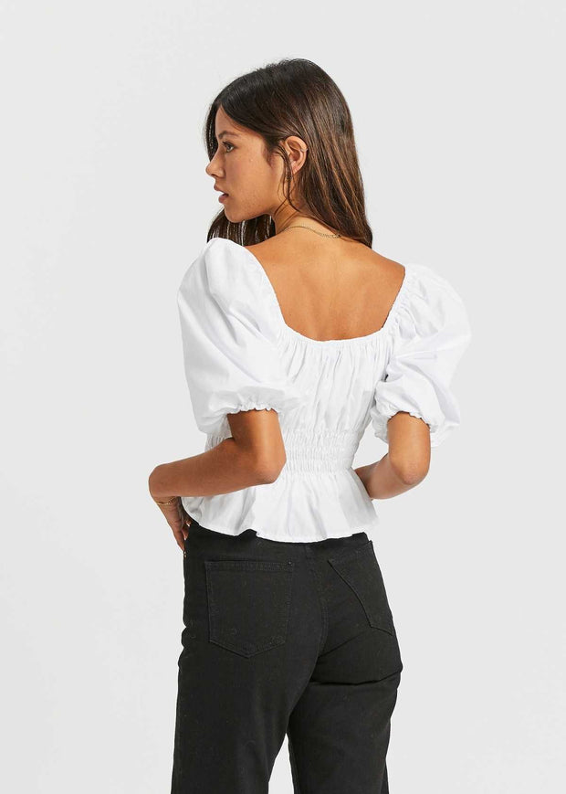 Venetia Top White