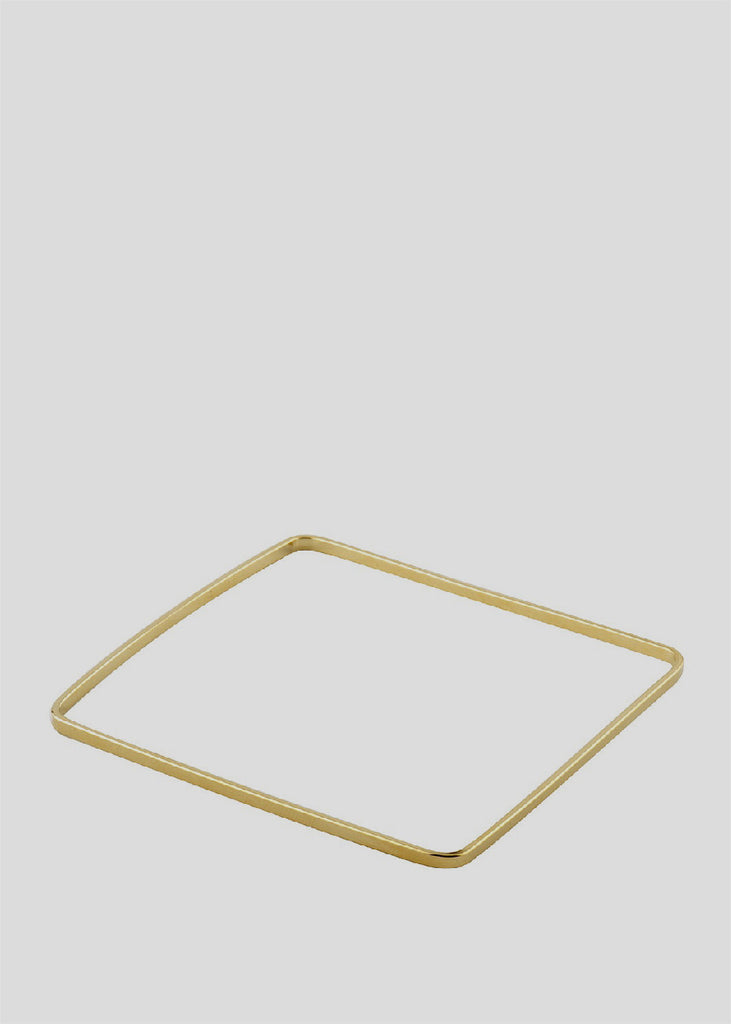 Square Bangle Bracelet Gold