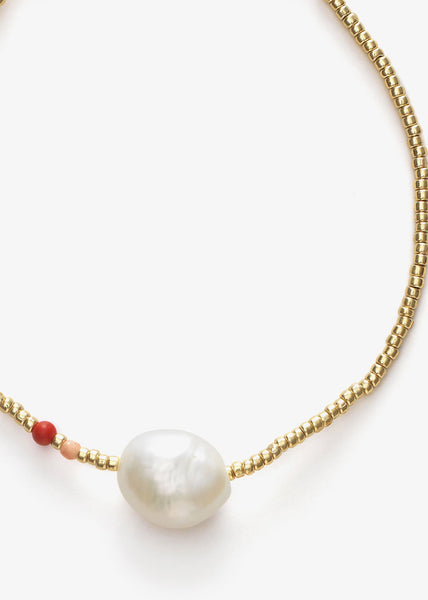 Baroque Pearl Bracelet Hot Coral